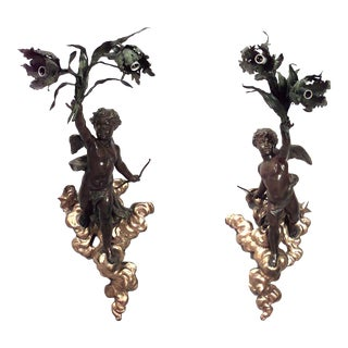 French Victorian Wall Sconces - a Pair For Sale