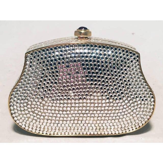 ed8ec1a38b7f Modern Judith Leiber Clear Swarovski Crystal Mini Minaudiere Evening Bag  Clutch For Sale - Image 3