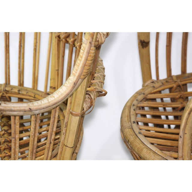 Franco Albini Style Rattan Chairs - A Pair - Image 8 of 11
