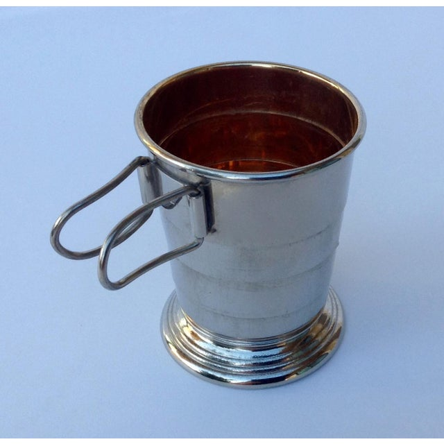 American Classical Rare C.F. Rumpp & Sons Silver Plate Collapsible Gentleman's Traveling Cup For Sale - Image 3 of 11