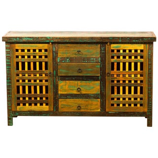 Reclaimed Wood Buffet Sideboard For Sale