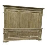 Image of Bernhardt King Size White Washed Panel Bedframe For Sale
