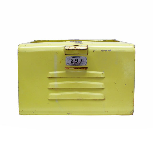 Vintage Yellow Gym Locker Basket - Image 1 of 5