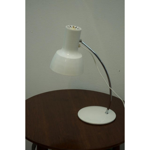 Aluminum White table lamp by Josef Hurka for Napako For Sale - Image 7 of 8