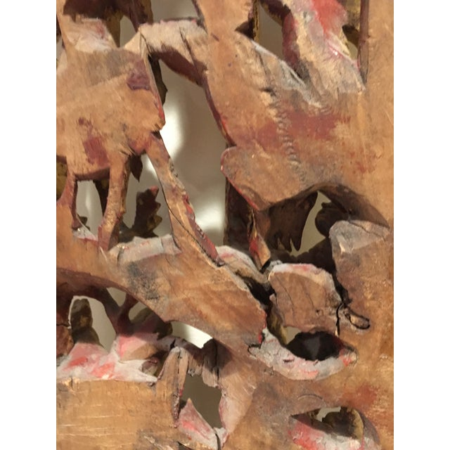 19th Century Carved Chinese Giltwood Wall Panel For Sale - Image 9 of 10