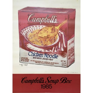 Andy Warhol 'Campbell's Soup Box' 1985 Hand Signed Original Pop Art Poster For Sale