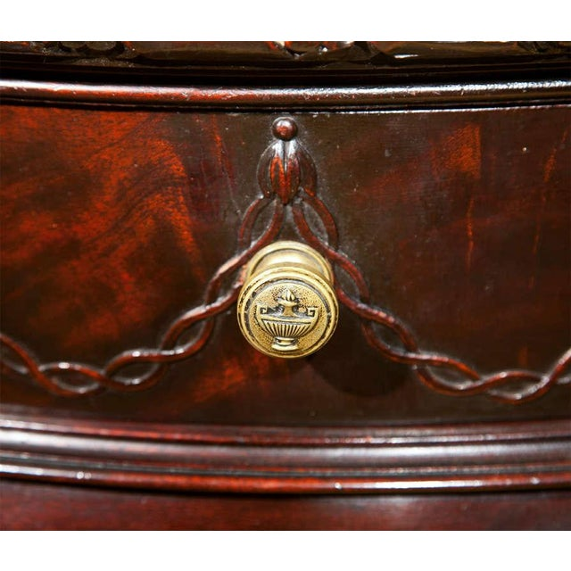 English Georgian Style Demilune Console Table - Image 3 of 8