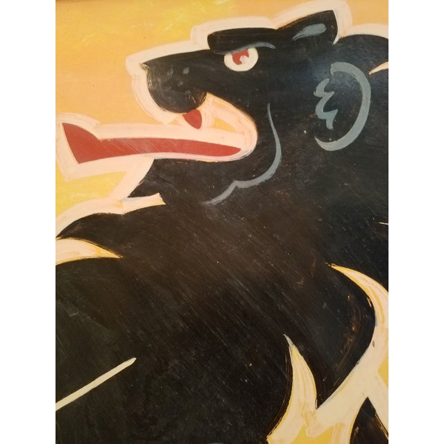 """Double-Sided, Hand Painted Metal UK Pub Sign - """"Black Lion"""" For Sale - Image 6 of 13"""