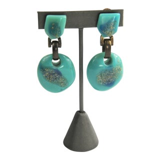 Dominique Denaive Distressed Resin Earrings For Sale