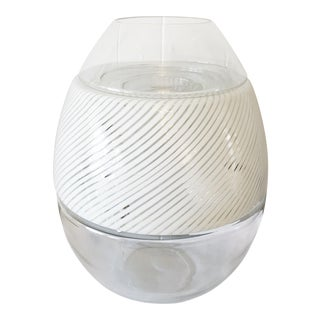 Large Mazzega 1980s Hand Blown Egg Form Lamp For Sale