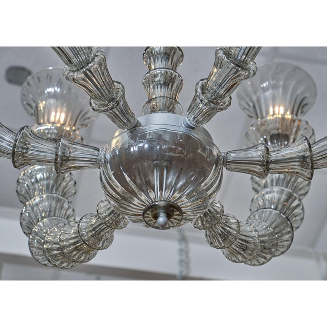 Gray Murano Glass Rezzonico Chandelier For Sale - Image 8 of 10
