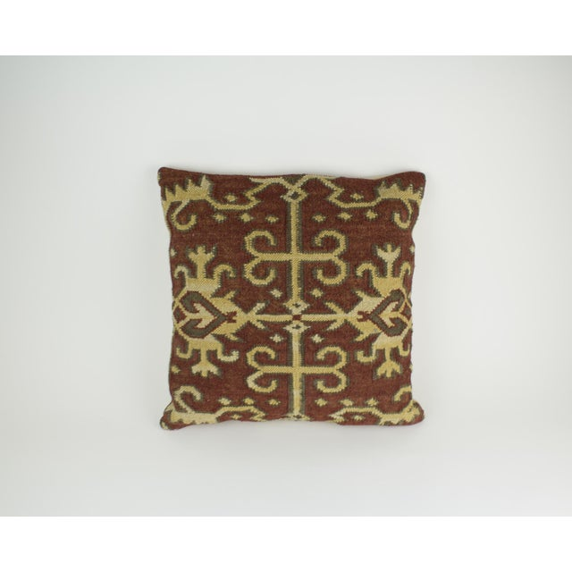 Beautiful kilim woven pillow by Pottery Barn. The deep reds, tans,and brown are both neutral and warm. Perfect way to add...