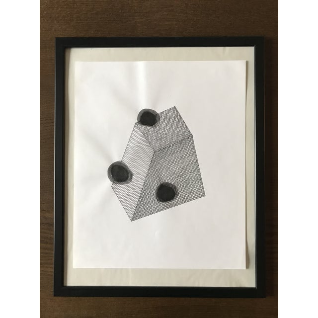 Abstract Spotted Prism Hand Drawn Ink Illustration For Sale - Image 3 of 3