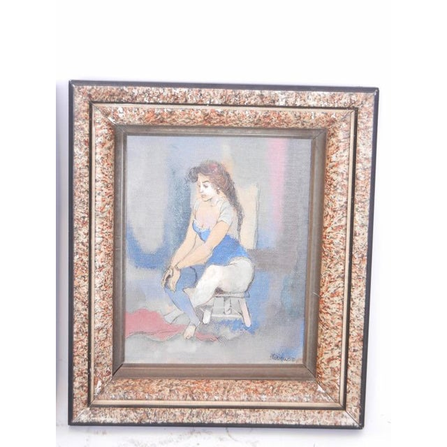 Contemporary 1950's Vintage Contemporary Paintings by Steven- A Pair For Sale - Image 3 of 5