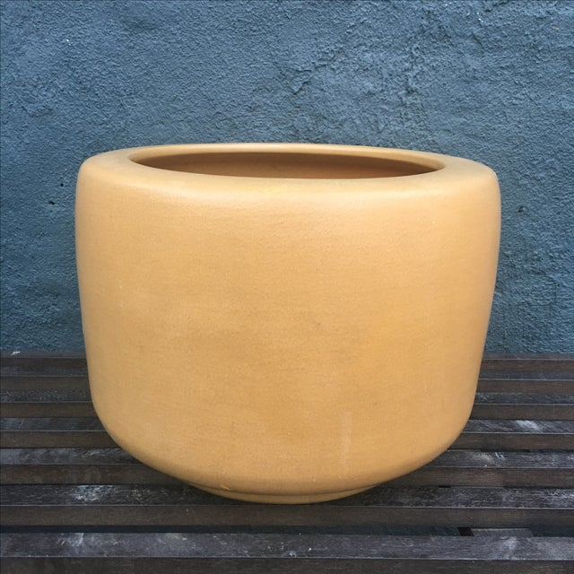 Architectural Pottery Small Gold Planter - Image 2 of 10