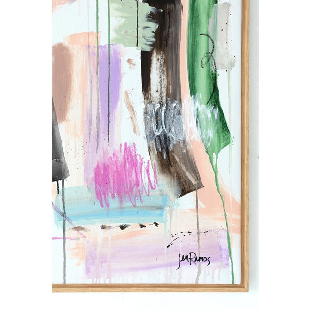 """Abstract """"Dreaming of Love"""" - Original Abstract Painting by Jen Ramos For Sale - Image 3 of 3"""