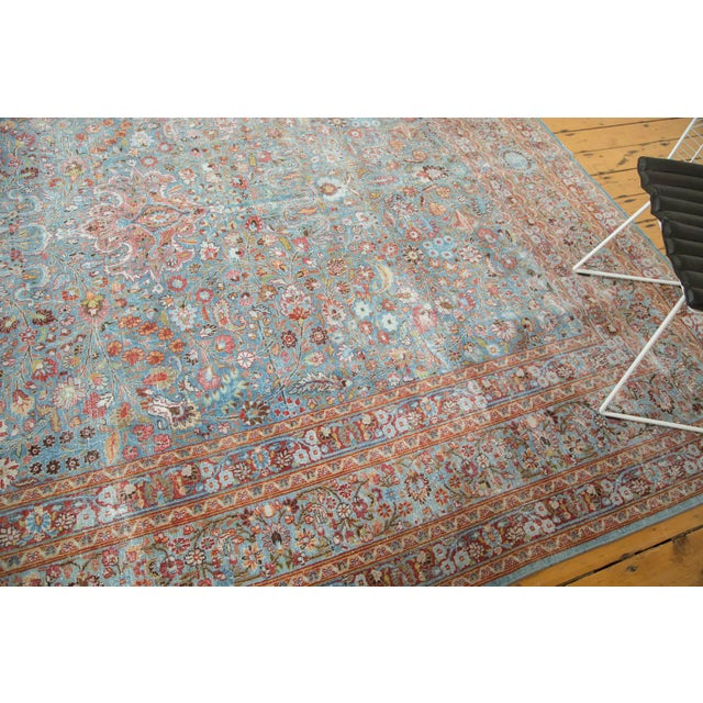 "Vintage Distressed Meshed Carpet - 8'8"" x 11'4"" - Image 8 of 10"