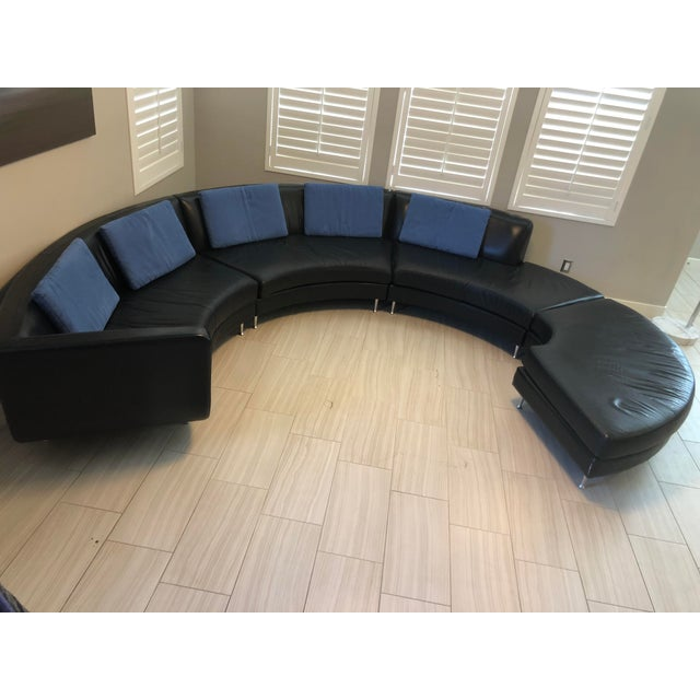 Contemporary American Leather Menlo Park Sectional For Sale - Image 9 of 13