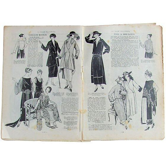 A must for any fashionista, francophile, or costume designer; two-volume set of illustrated French fashion magazine, La...