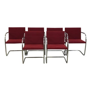 Mies Van Der Rohe Tubular Dining Chairs - Set of 6 For Sale