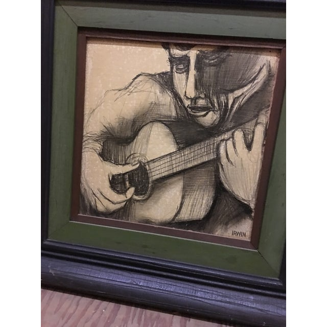 Guitarist Original Pencil Drawing - Image 4 of 5