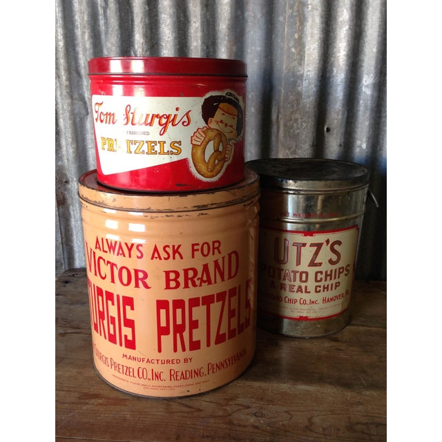 Vintage Eat Economy Pretzels Container - Image 6 of 6