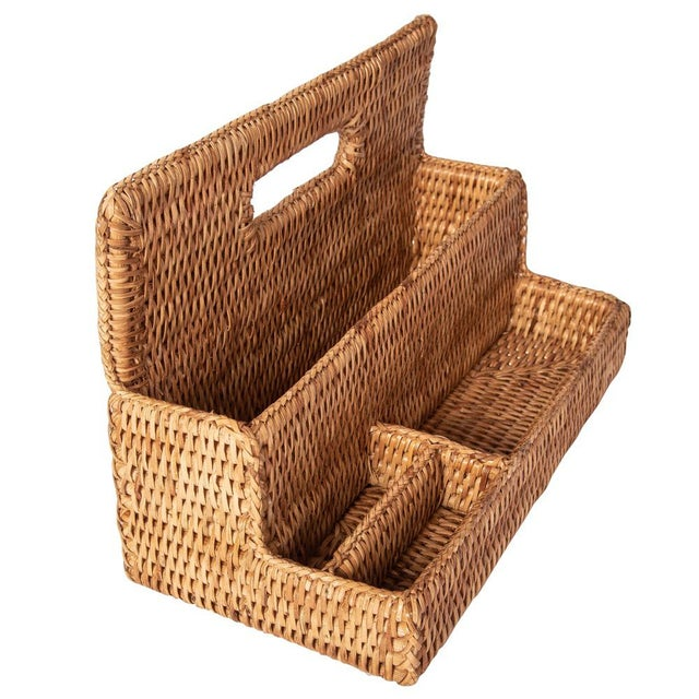Brown Artifacts Rattan Standing Stationary Sorter in Honey Brown For Sale - Image 8 of 11