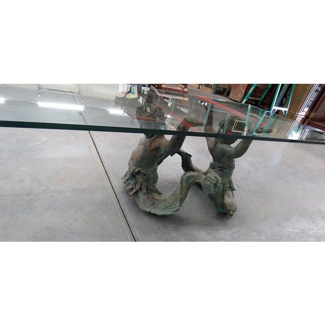 Bronze Putti DI Mare Glass Top Coffee Table For Sale In Philadelphia - Image 6 of 8