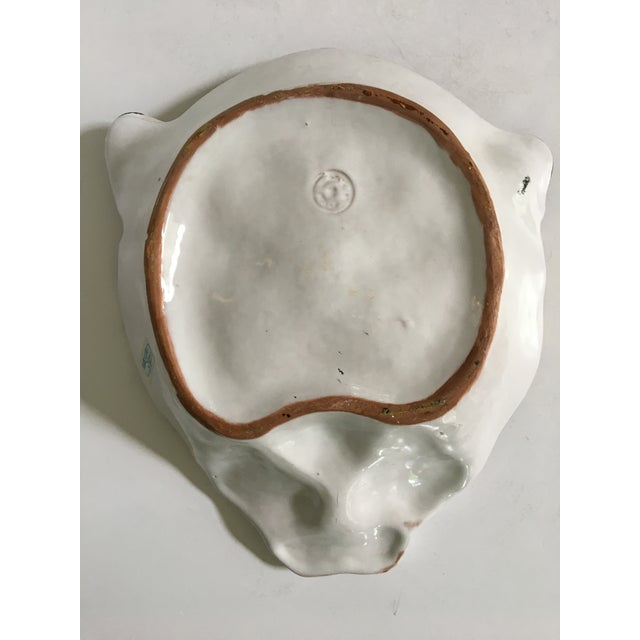 Italian Mid-Century Hollywood Regency Handcrafted Pottery Spotted Leopard Dish/Catchall For Sale - Image 6 of 13