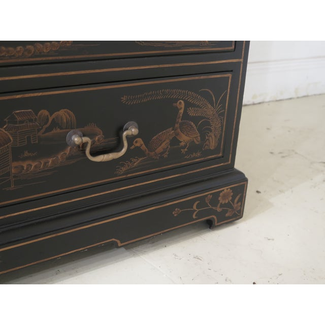 Chinoiserie Decorated Secretary Desk With Fitted Interior For Sale - Image 9 of 13