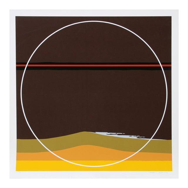Yellow Dunes, Silkscreen by Thomas Benton For Sale