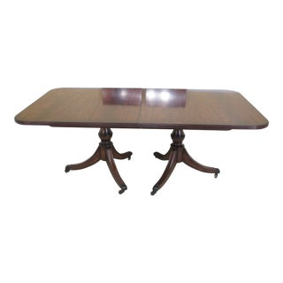 Maitland Smith Duncan Phyfe Figural Mahogany Dining Room Table For Sale