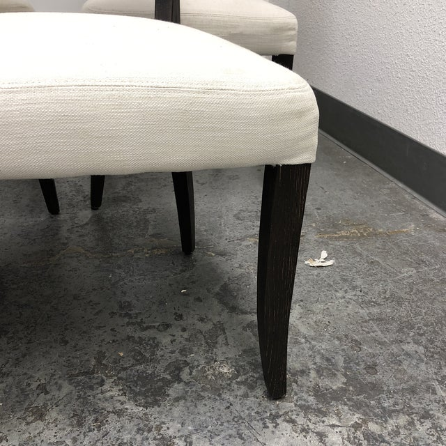 Set of Five Restoration Hardware Adèle Fabric Side Chairs For Sale In San Francisco - Image 6 of 13