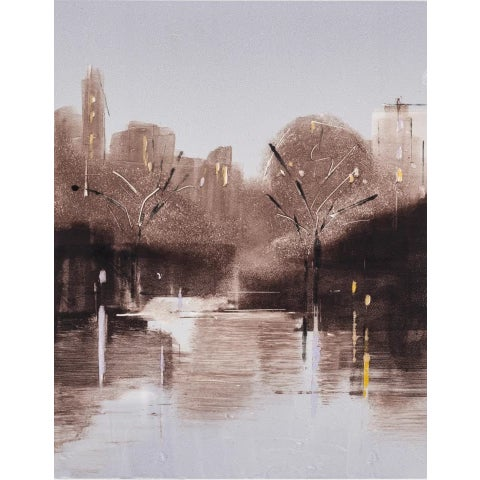 "Americana Lisa Breslow ""Central Park Nocturne 4"" Print, 2018 For Sale - Image 3 of 3"