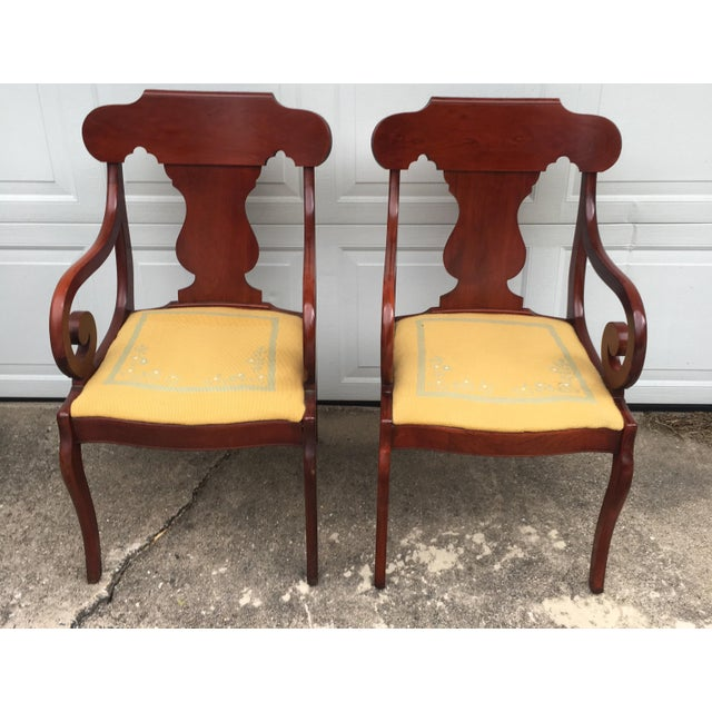 Cherry Arm Chairs - A Pair - Image 3 of 5