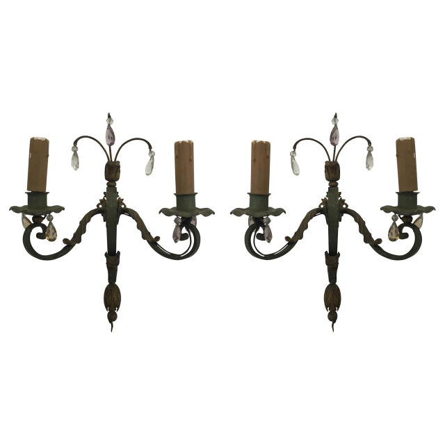 1920s Antique French Sconces - a Pair For Sale - Image 5 of 5