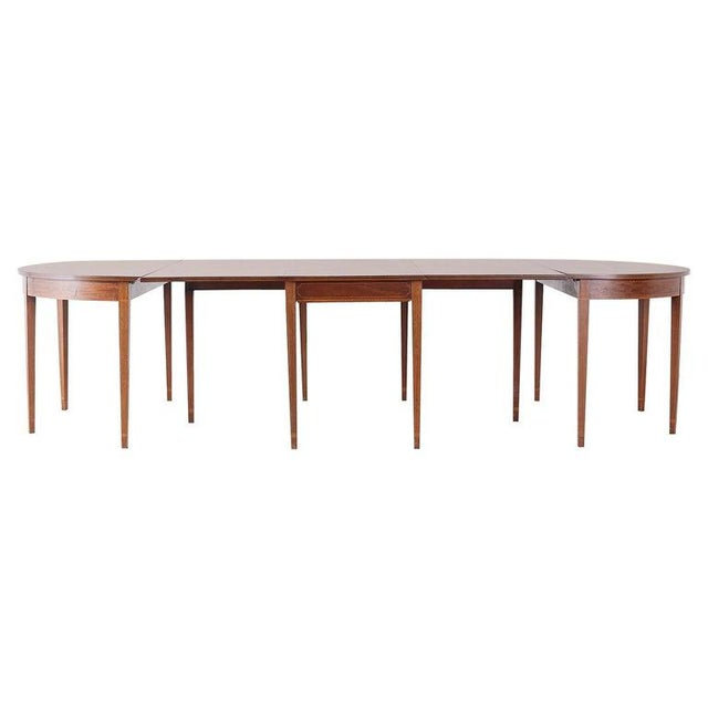 American Hepplewhite Style Mahogany Banquet Dining Table For Sale - Image 13 of 13