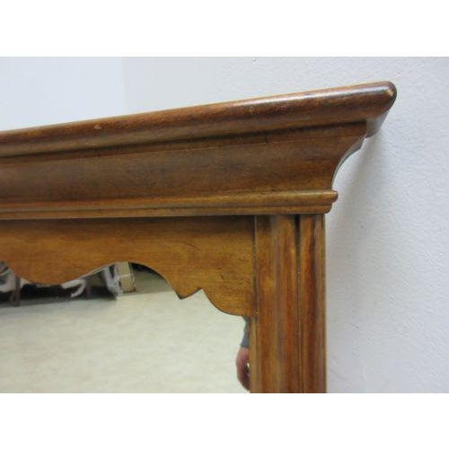 Ethan Allen 1776 Ethan Allen Hanging Wall Dresser Mirror For Sale - Image 4 of 6