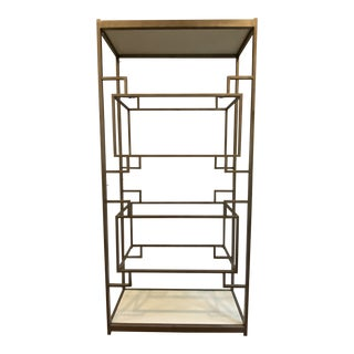 Classic Metal and Glass Etagere For Sale