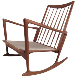 Mid-Century Danish Teak Rocker by Selig For Sale