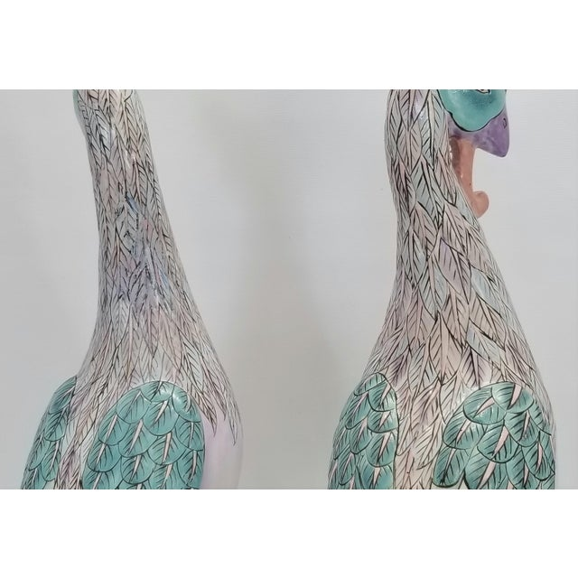 Phoenix Bird Statues - Super Large 17 Inches - Feng Shui - Asian Palm Beach Boho Chic Animals Tropical Coastal For Sale - Image 12 of 13