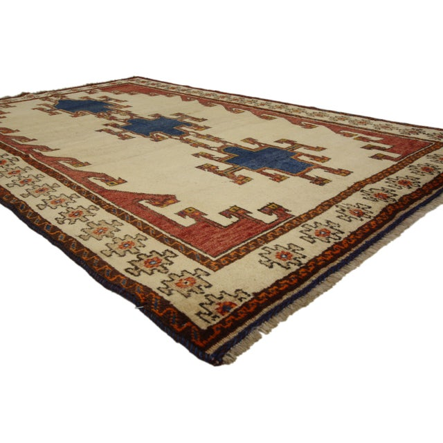 Islamic Vintage Shiraz Persian Rug with Modern Tribal Style For Sale - Image 3 of 6