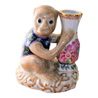Vintage Monkey With Bud Vase