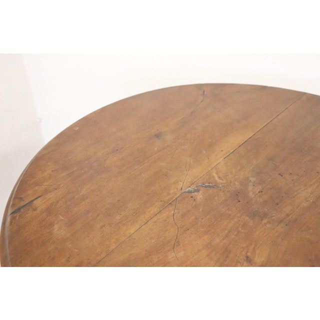 Walnut 19th Century Italian Louis Philippe Walnut Round Centre Table For Sale - Image 7 of 11