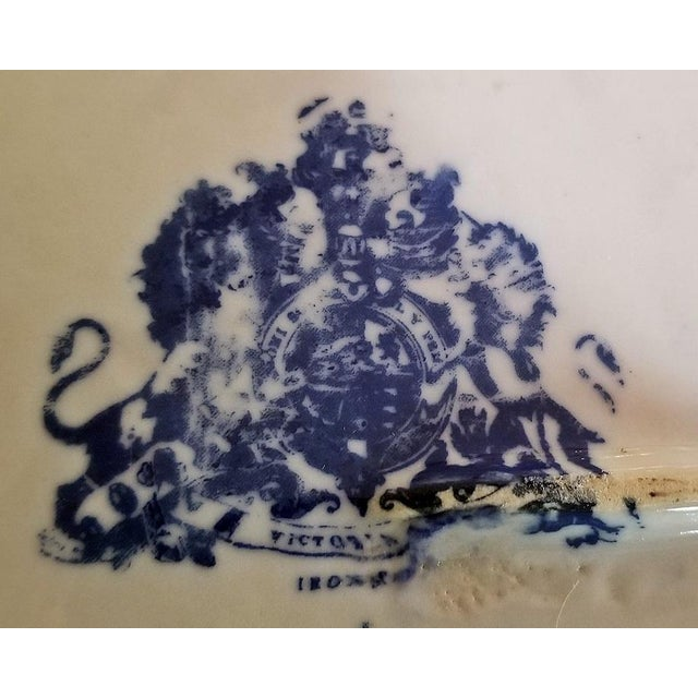 Pair of 19c Staffordshire Ironstone Lidded Tureens of Shipping Scenes For Sale In Dallas - Image 6 of 13