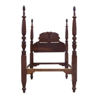 Early 19th Century Jamaican Regency Mahogany Pineapple Bed