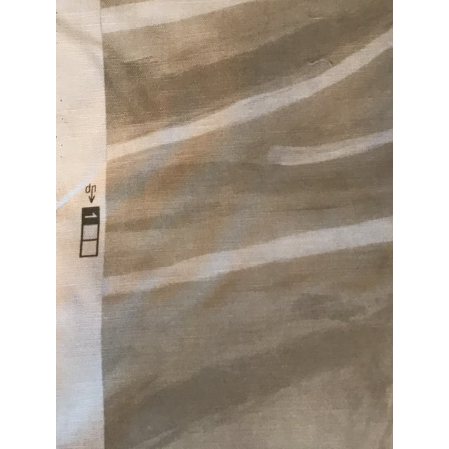 2010s Contemporary Groundworks Graffito Beige/Ivory Fabric - 5 Yards For Sale - Image 5 of 7