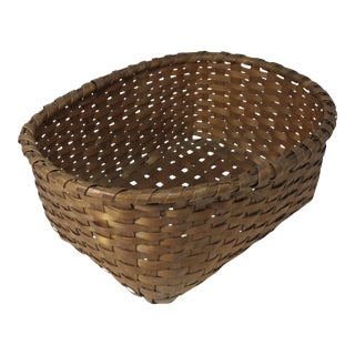 20th Century Maine Indian Made Woven Basket For Sale