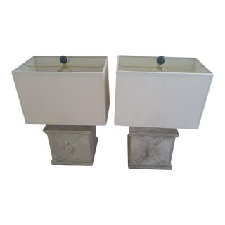 Currey and Company Concrete Cast Resin Lamps- 2 Pc.