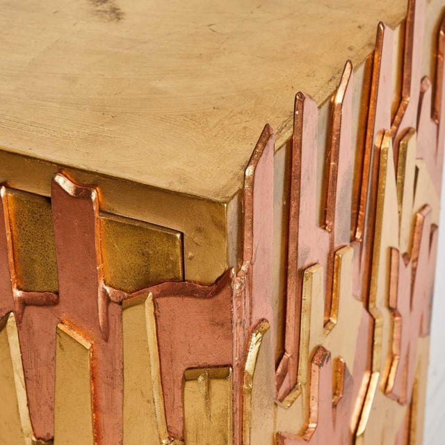 Modern Gold-Leaf Credenza by Pedro Baez, Mexico City For Sale - Image 3 of 7